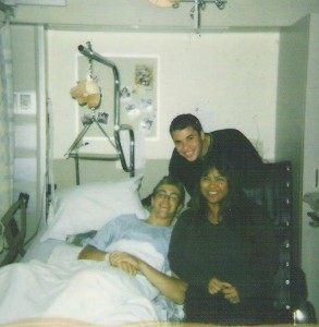 Kalev shortly after his accident in VGH